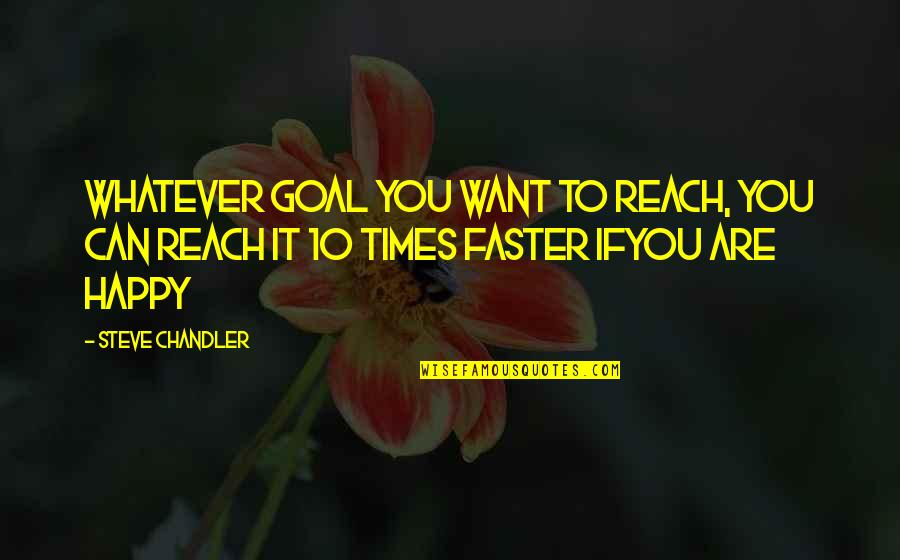 Be As Happy As You Can Be Quotes By Steve Chandler: Whatever goal you want to reach, you can