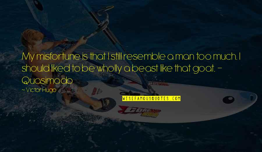 Be Like Quotes By Victor Hugo: My misfortune is that I still resemble a