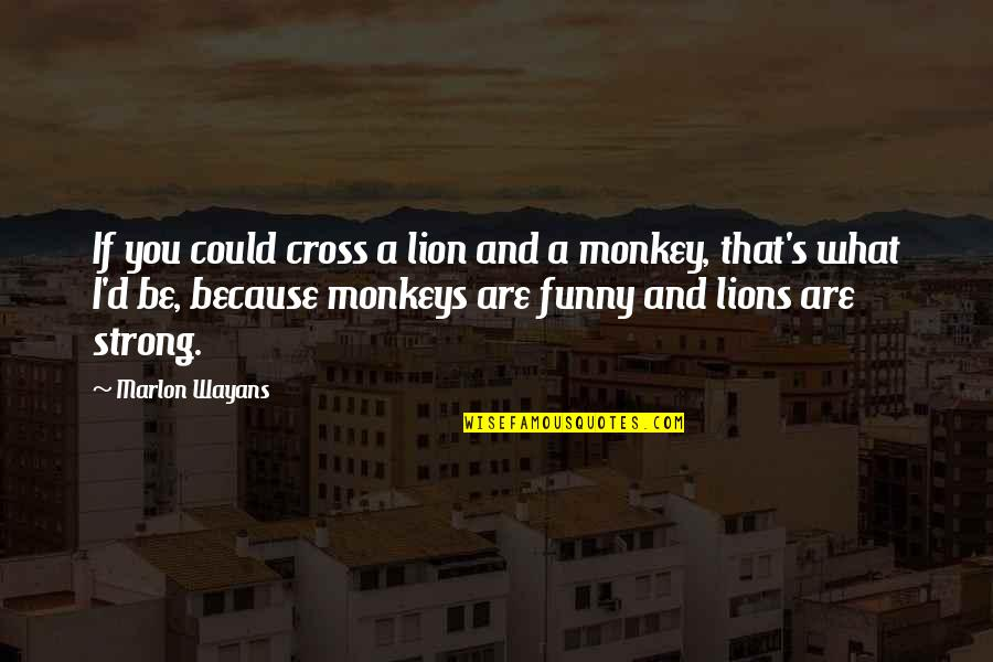 Be Lion Quotes By Marlon Wayans: If you could cross a lion and a