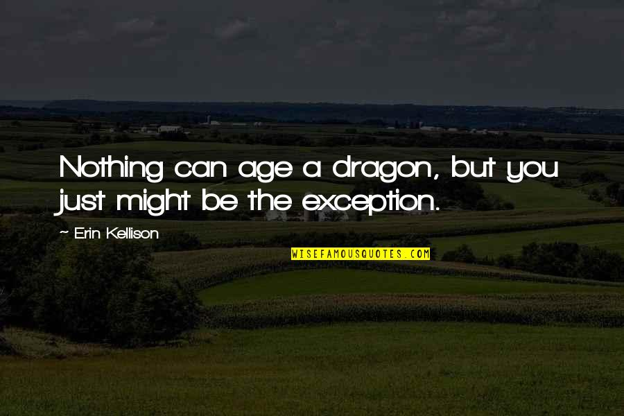 Be Nothing Quotes By Erin Kellison: Nothing can age a dragon, but you just