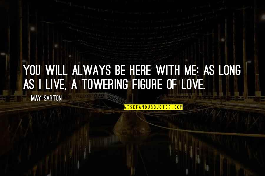 Be With Me Always Quotes By May Sarton: You will always be here with me; As