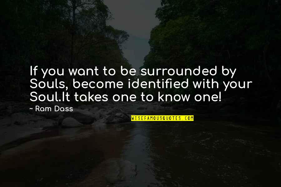 Be With You Quotes By Ram Dass: If you want to be surrounded by Souls,