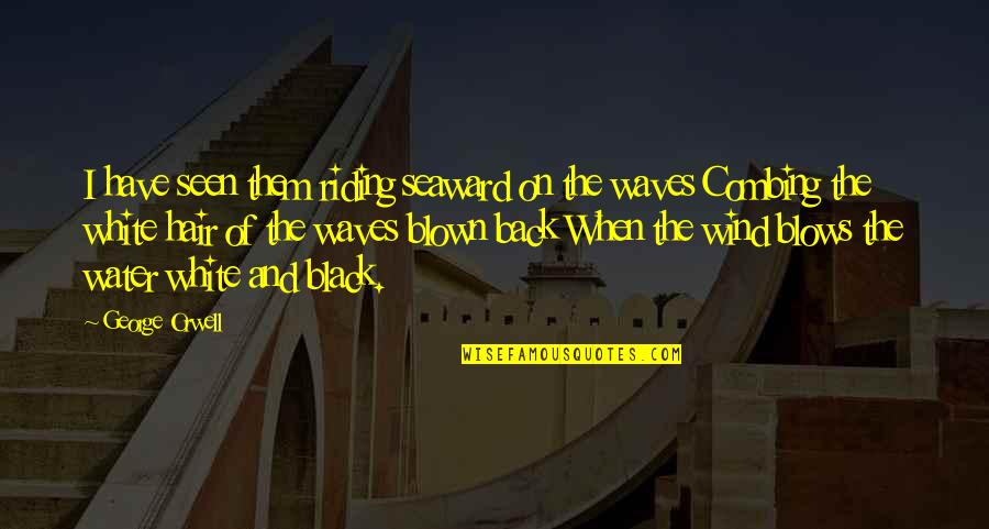 Beach Serenity Quotes By George Orwell: I have seen them riding seaward on the