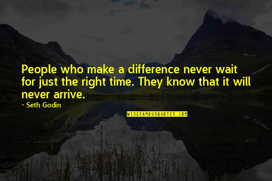 Beale Street Quotes By Seth Godin: People who make a difference never wait for