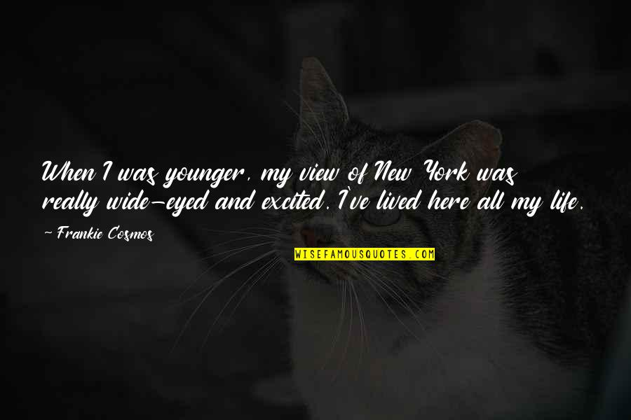 Beau Lotto Quotes By Frankie Cosmos: When I was younger, my view of New