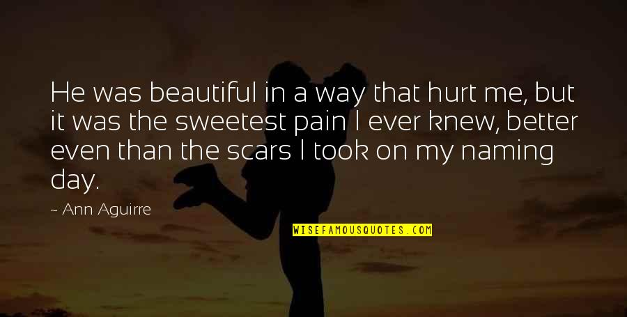 Beautiful Day Quotes By Ann Aguirre: He was beautiful in a way that hurt
