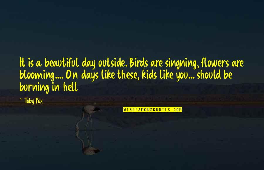 Beautiful Day Quotes By Toby Fox: It is a beautiful day outside. Birds are