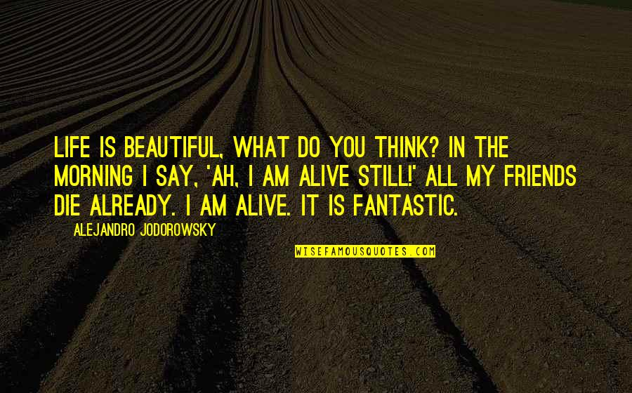 Beautiful Friends Quotes By Alejandro Jodorowsky: Life is beautiful, what do you think? In