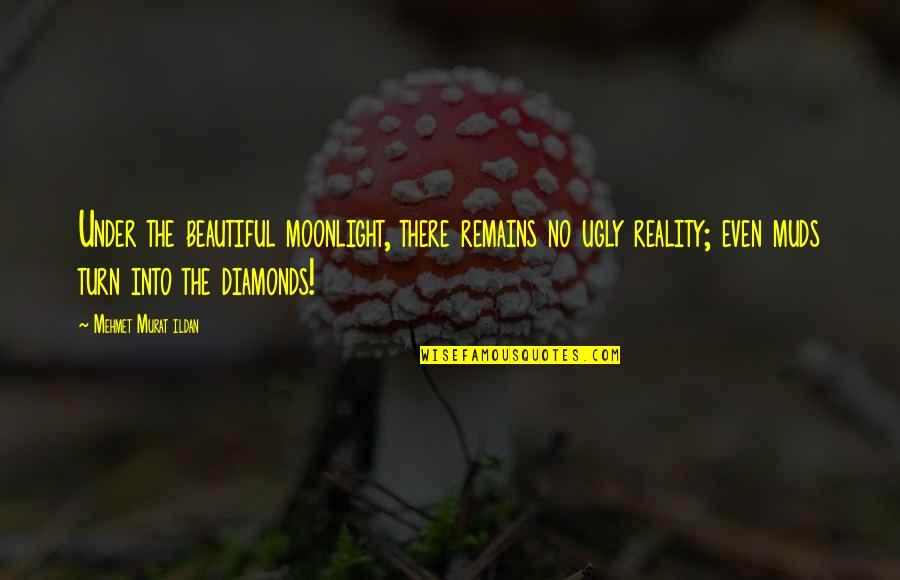Beautiful Moonlight Quotes By Mehmet Murat Ildan: Under the beautiful moonlight, there remains no ugly