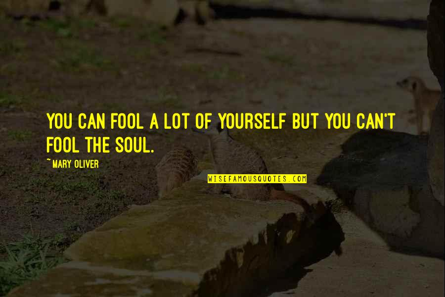 Beautiful Sites Quotes By Mary Oliver: You can fool a lot of yourself but
