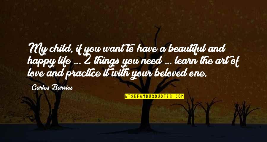 Beautiful Things Quotes By Carlos Barrios: My child, if you want to have a