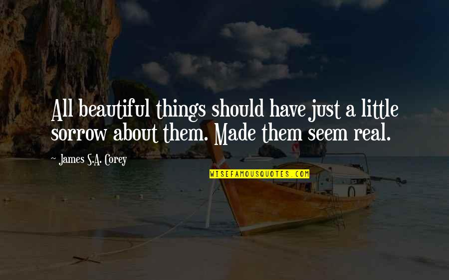 Beautiful Things Quotes By James S.A. Corey: All beautiful things should have just a little