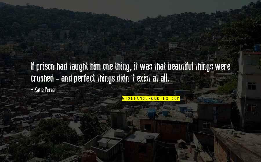Beautiful Things Quotes By Katie Porter: If prison had taught him one thing, it