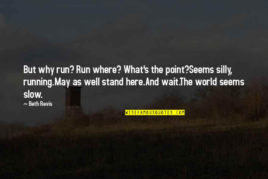 Beautiful View Quotes By Beth Revis: But why run? Run where? What's the point?Seems