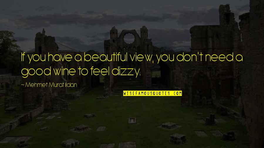 Beautiful View Quotes By Mehmet Murat Ildan: If you have a beautiful view, you don't
