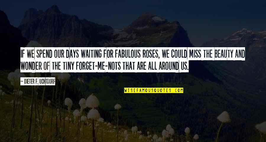 Beauty All Around Quotes By Dieter F. Uchtdorf: If we spend our days waiting for fabulous