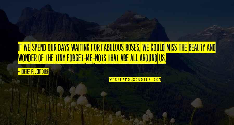 Beauty All Around Us Quotes By Dieter F. Uchtdorf: If we spend our days waiting for fabulous