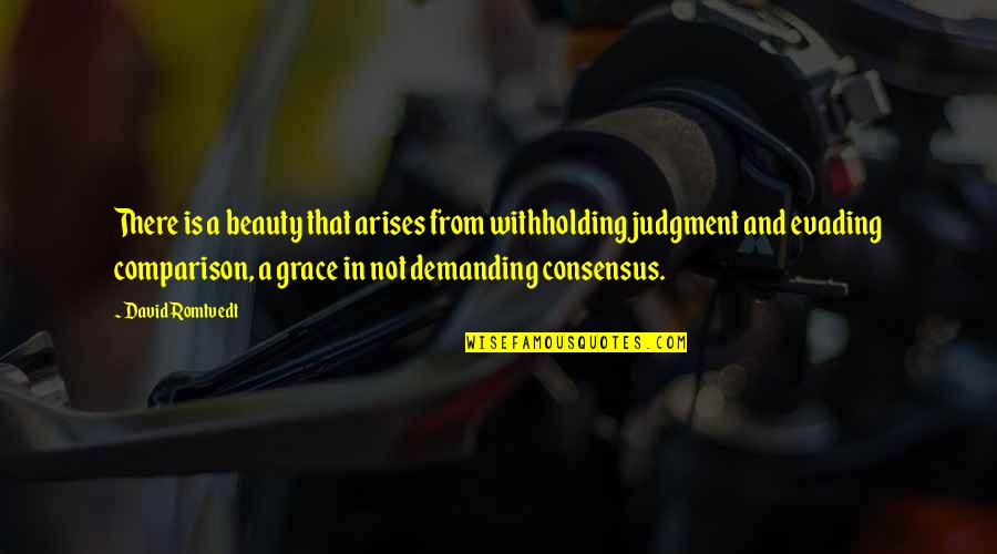 Beauty And Grace Quotes By David Romtvedt: There is a beauty that arises from withholding