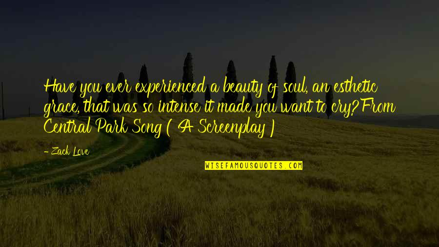 Beauty And Grace Quotes By Zack Love: Have you ever experienced a beauty of soul,