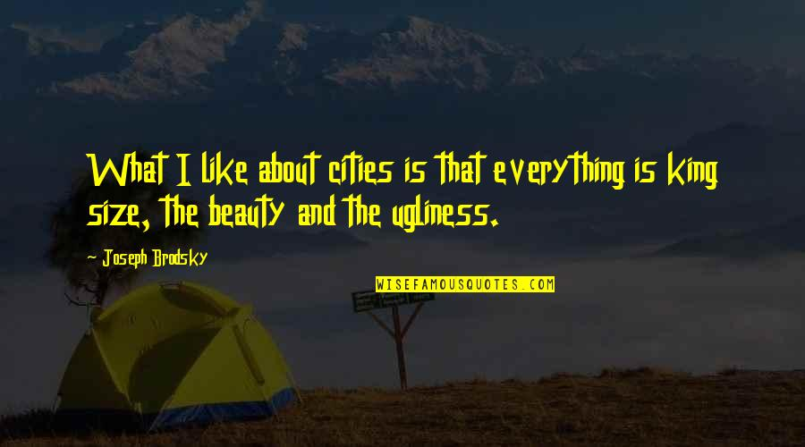 Beauty Is Not Everything Quotes By Joseph Brodsky: What I like about cities is that everything