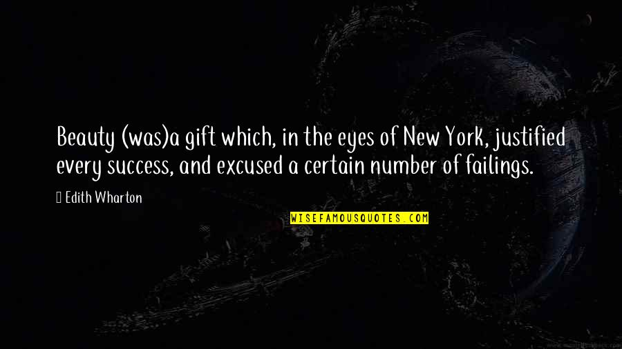 Beauty Of Eyes Quotes By Edith Wharton: Beauty (was)a gift which, in the eyes of