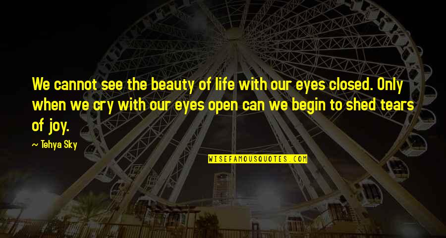 Beauty Of Eyes Quotes By Tehya Sky: We cannot see the beauty of life with