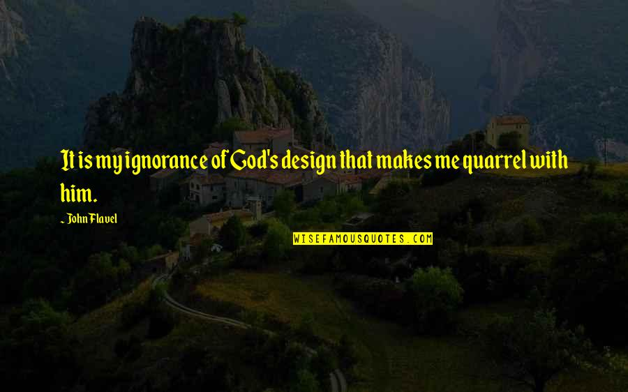 Beauty Of Nature Ocean Quotes By John Flavel: It is my ignorance of God's design that
