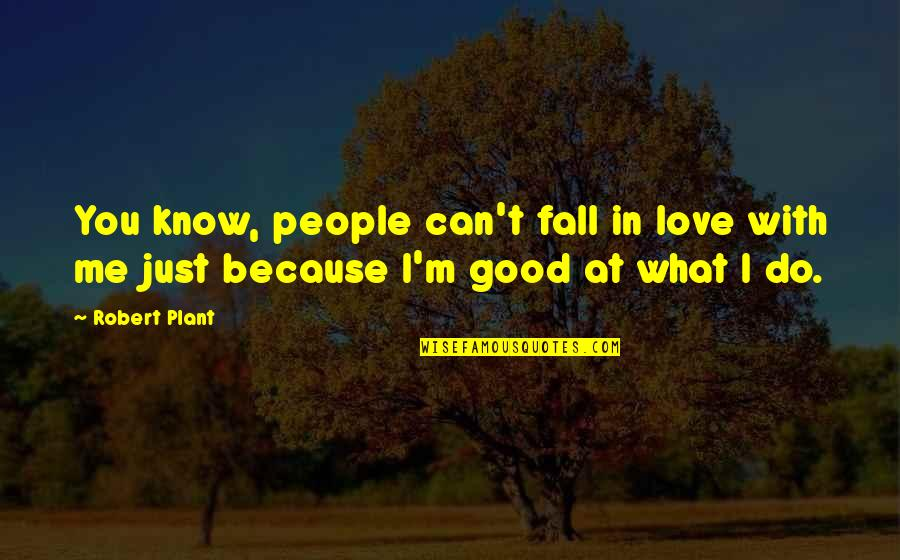 Because I Love You Quotes By Robert Plant: You know, people can't fall in love with
