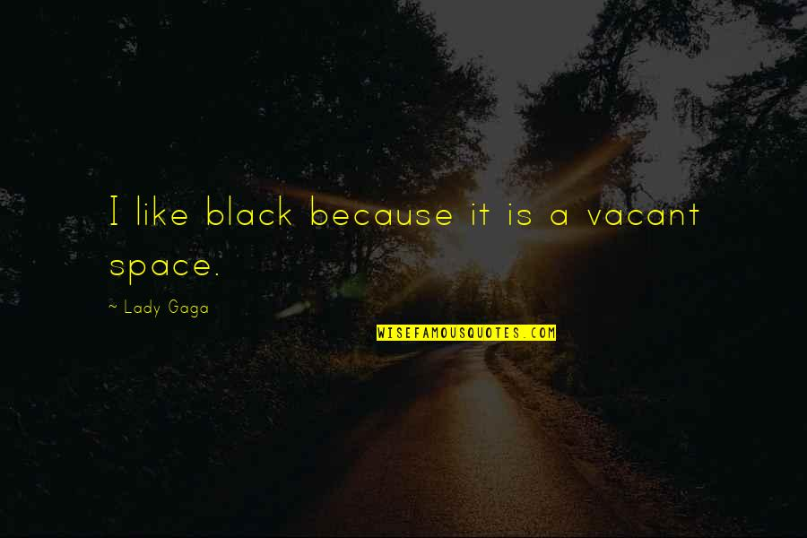 Because I'm A Lady Quotes By Lady Gaga: I like black because it is a vacant