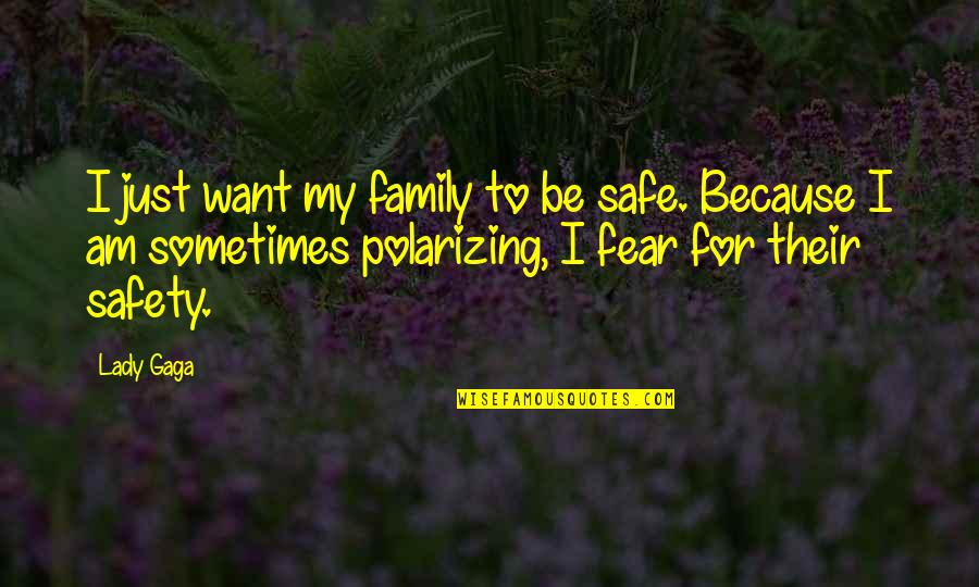 Because I'm A Lady Quotes By Lady Gaga: I just want my family to be safe.