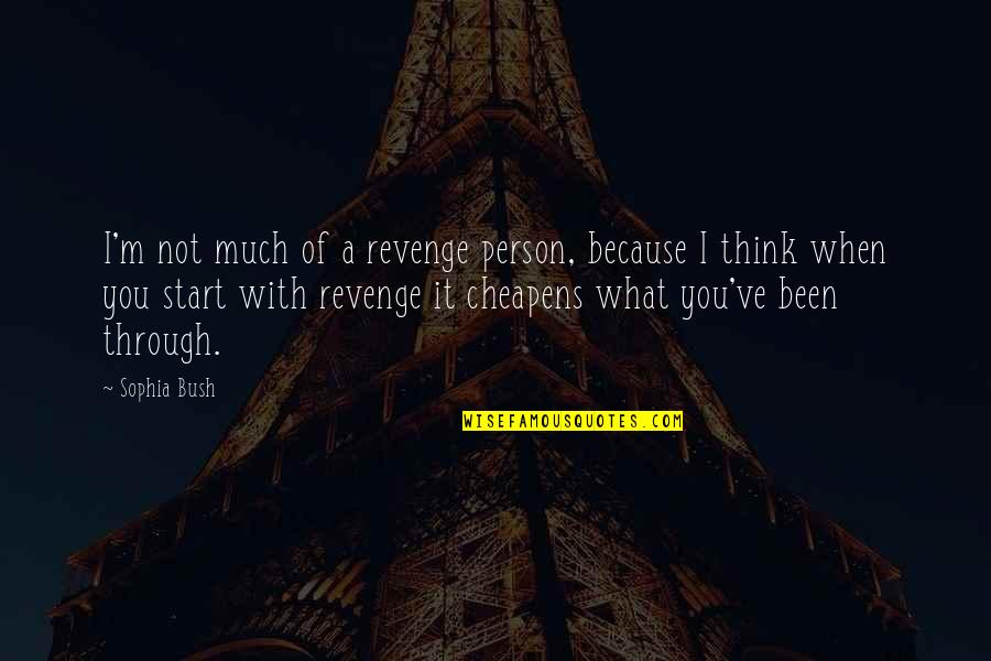 Because When I'm With You Quotes By Sophia Bush: I'm not much of a revenge person, because