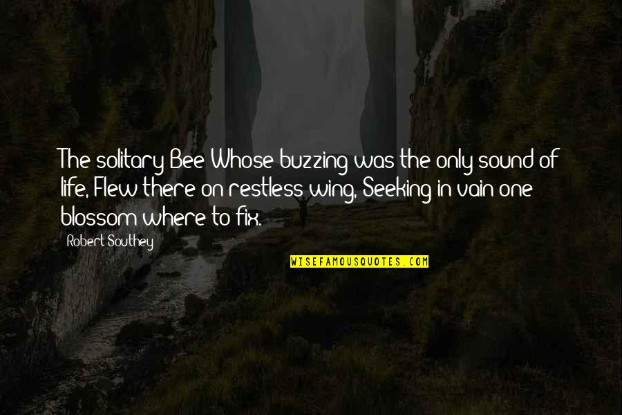 Bee Quotes By Robert Southey: The solitary Bee Whose buzzing was the only