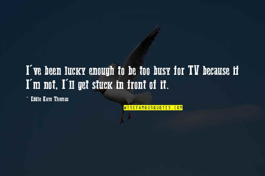 Been Busy Quotes By Eddie Kaye Thomas: I've been lucky enough to be too busy