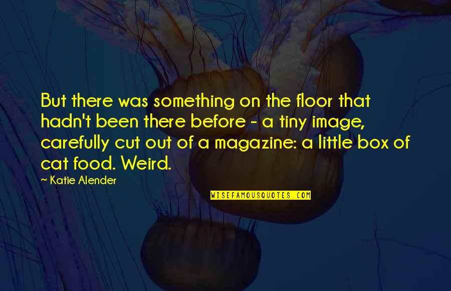 Been There Before Quotes By Katie Alender: But there was something on the floor that