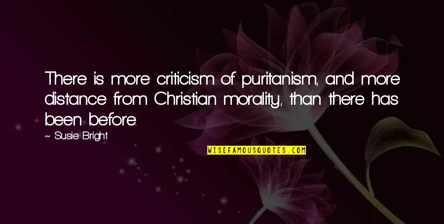 Been There Before Quotes By Susie Bright: There is more criticism of puritanism, and more