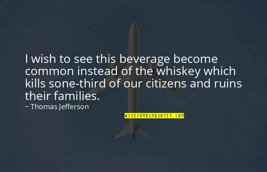 Beer And Whiskey Quotes By Thomas Jefferson: I wish to see this beverage become common