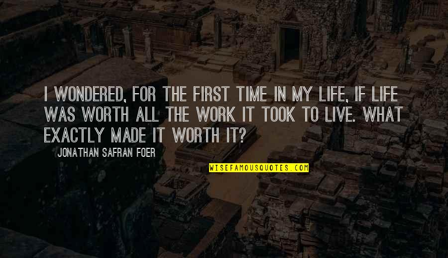 Before Bed Love Quotes By Jonathan Safran Foer: I wondered, for the first time in my