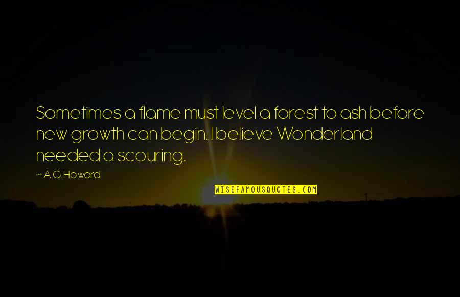 Begin With Yes Quotes By A.G. Howard: Sometimes a flame must level a forest to