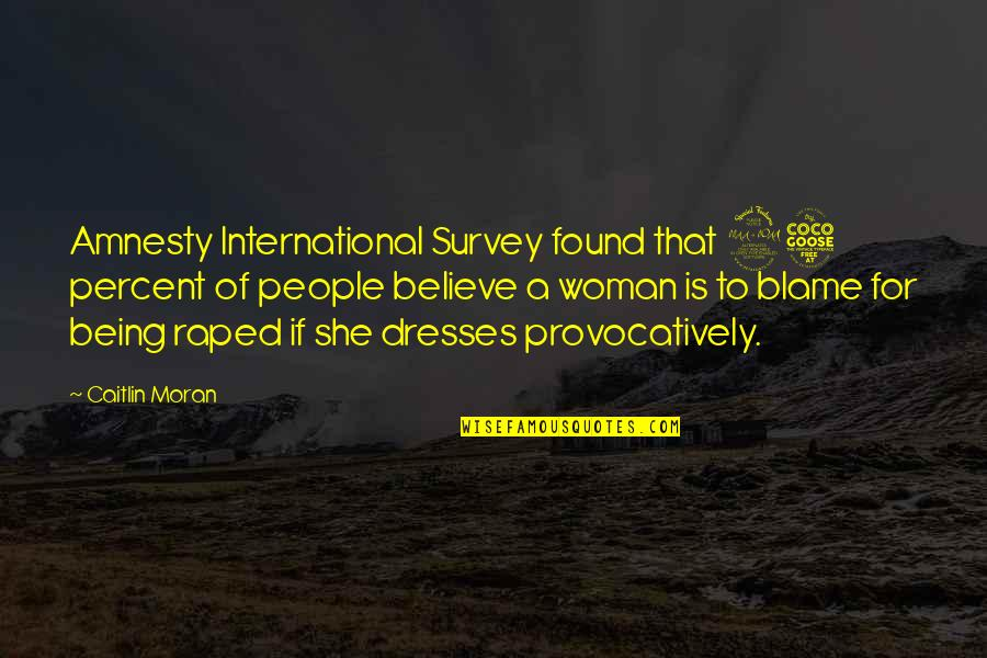 Being A Woman Quotes By Caitlin Moran: Amnesty International Survey found that 25 percent of