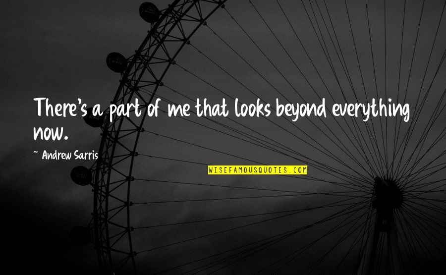 Being Done With Everything Tumblr Quotes By Andrew Sarris: There's a part of me that looks beyond
