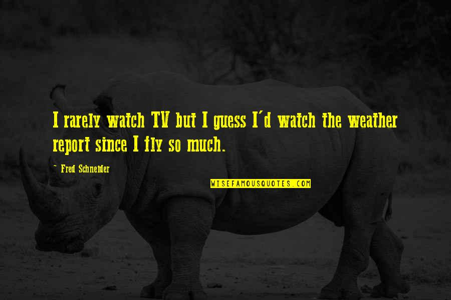 Being Excited To See The One You Love Quotes By Fred Schneider: I rarely watch TV but I guess I'd