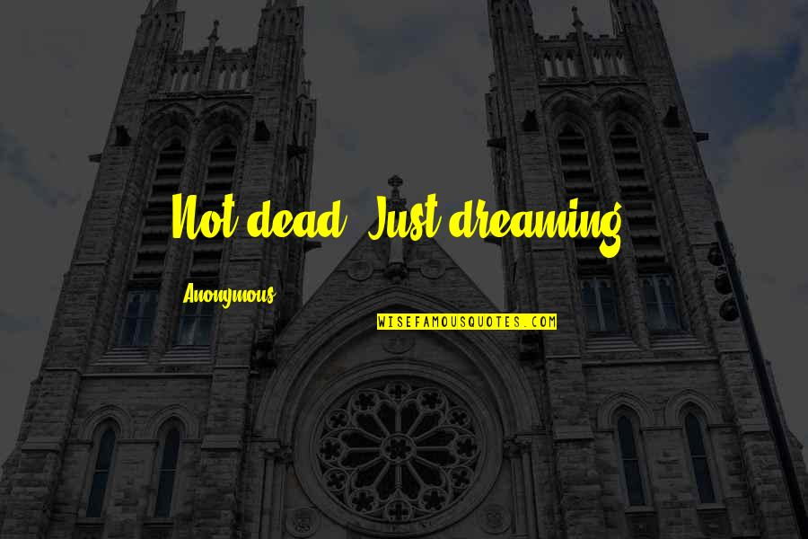 Being Fake And Two Faced Quotes By Anonymous: Not dead. Just dreaming.