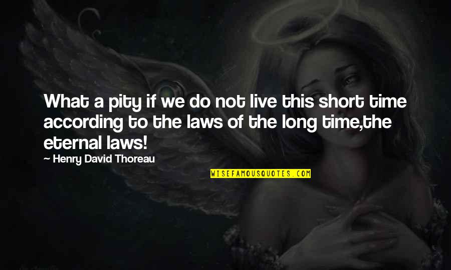 Being Happy With Life And Love Quotes By Henry David Thoreau: What a pity if we do not live