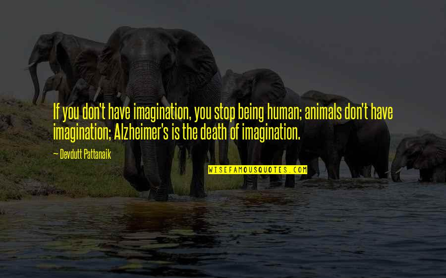 Being Human To Animals Quotes By Devdutt Pattanaik: If you don't have imagination, you stop being