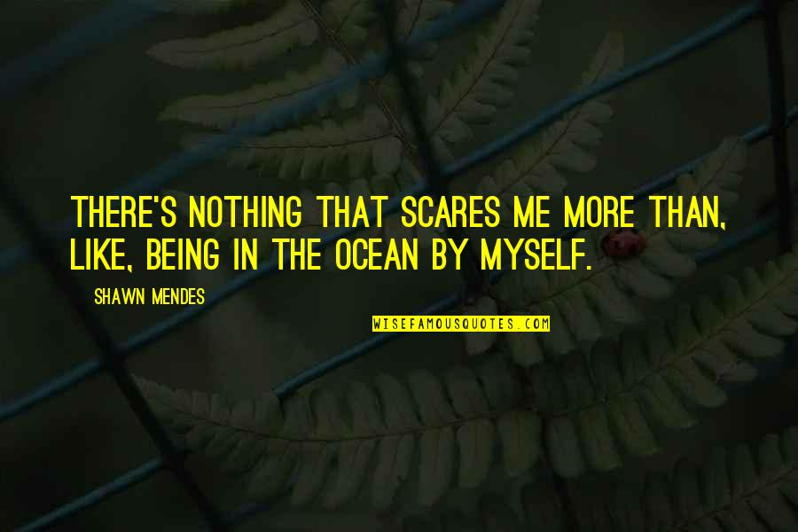 Being On The Ocean Quotes By Shawn Mendes: There's nothing that scares me more than, like,
