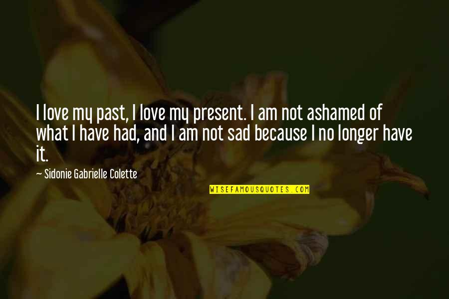 Being On Top Of Your Game Quotes By Sidonie Gabrielle Colette: I love my past, I love my present.