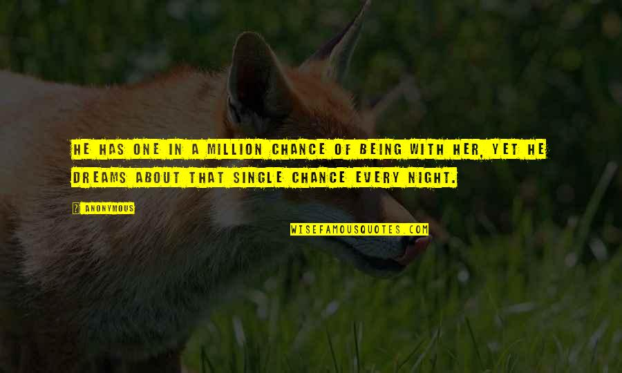 Being Single Quotes By Anonymous: He has one in a million chance of