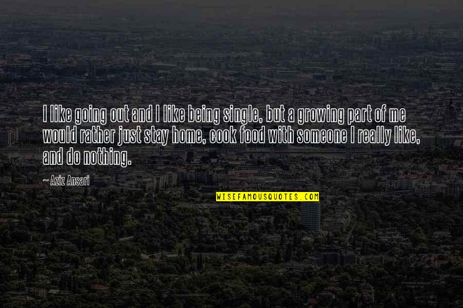 Being Single Quotes By Aziz Ansari: I like going out and I like being