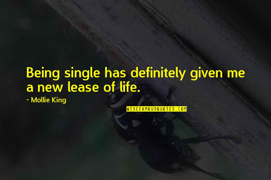 Being Single Quotes By Mollie King: Being single has definitely given me a new