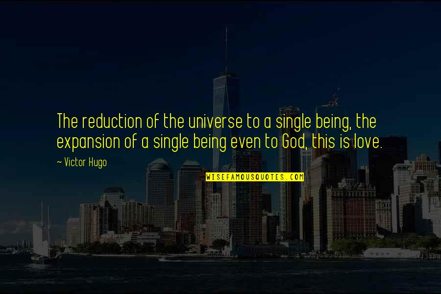 Being Single Quotes By Victor Hugo: The reduction of the universe to a single